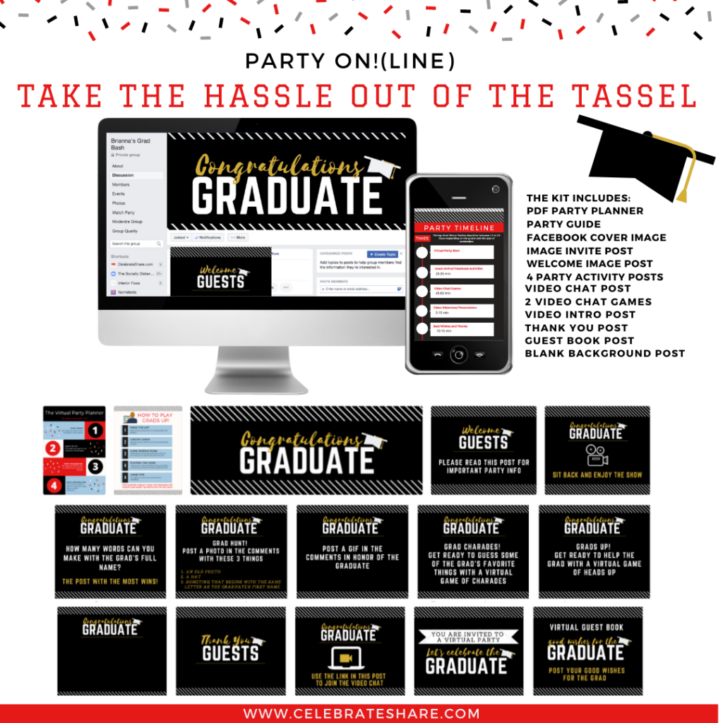 virtual graduation party kit