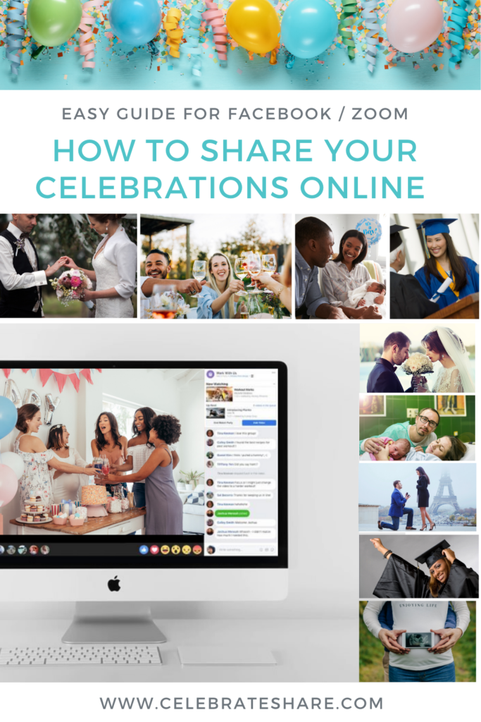 celebrate on zoom and facebook