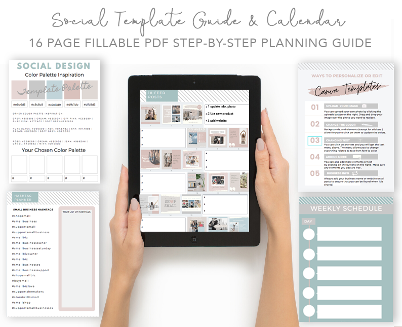 small business template social planner